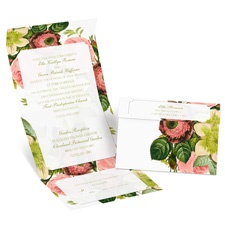 Botanical Beauty Seal and Send Wedding Invitation