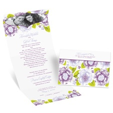 Sweet Florals Seal and Send Wedding Invitation