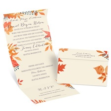 Forever Fall Ecru Seal and Send Fall Wedding Invitation