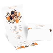 Leaves and Branches Seal and Send Fall Wedding Invitation
