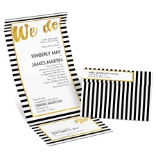 Golden Words Seal and Send Gold Wedding Invitation