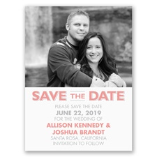 Clearly You - Photo Save the Date Card