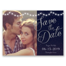 Lights Aglow - Photo Save the Date Card
