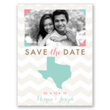 Well Stated - Photo Save the Date Card