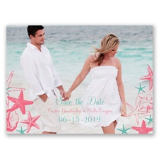 Seashell Border - Save the Date Card
