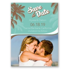 Retro Beach Save the Date