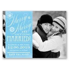 Merry Merry Holiday Card Save the Date