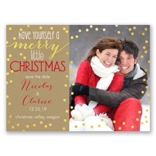 Merry Christmas - Holiday Card Photo Save the Date