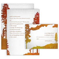 Lakeside All in One Wedding Invitation