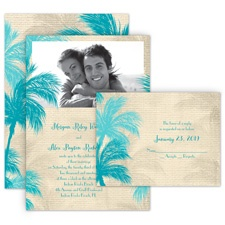 Island Beauty All in One Destination Wedding Invitation