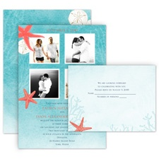 Ocean Adventure All in One Destination Wedding Invitation