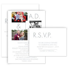 Photo Favorites All in One Wedding Invitation