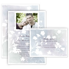 Wildflower Watercolor All in One Wedding Invitation