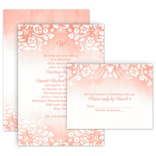 Garden Dreams All in One Wedding Invitation