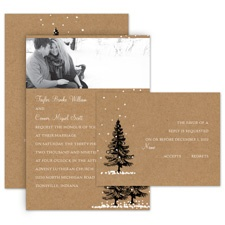 Let It Snow All in One Wedding Invitation