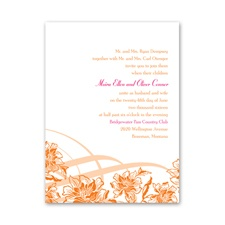 Flowers and Flourishes - Invitation