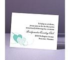 Close at Heart - Lagoon - Reception Card