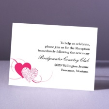 Close at Heart - Lipstick - Reception Card