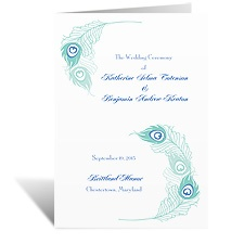 Feather Fancy - Wedding Program