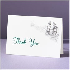 Childhood Friends - Thank You Card and Envelope