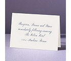 Pure Tradition - Reception Card