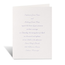 Pure Tradition in White Wedding Invitation