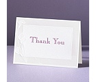 Satin Calla Lilies - Thank You Card and Envelope