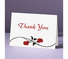 Red Roses - Thank You Card and Envelope