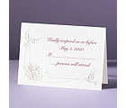 Shimmering Doves - Response Card and Envelope