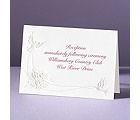 Shimmering Doves - Reception Card