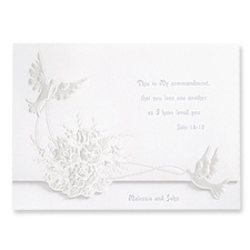 Shimmering Doves Wedding Invitation