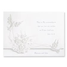 Shimmering Doves Wedding Invitation