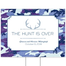 Camo Hunter - Navy - Yard Sign