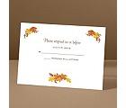 Fall Foliage - Response Card and Envelope
