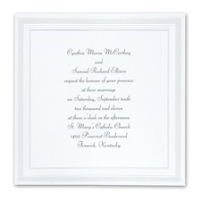 Pearlized Borders Wedding Invitation