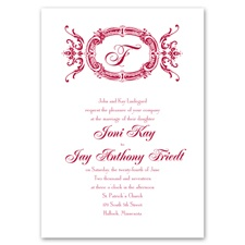 Pure Elegance Thermography Wedding Invitation