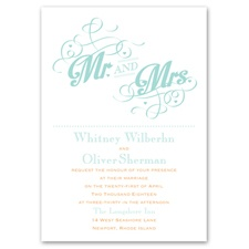 Happy Couple Thermography Wedding Invitation