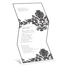 Dashing in Damask Wedding Invitation