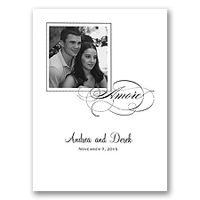 Amore Photo Black Wedding Invitation