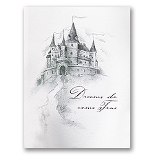 Happily Ever After Tri-Fold Wedding Invitation