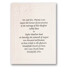 Flourishing Flowers Wedding Invitation