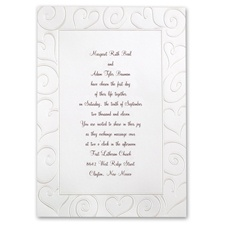 Loving Swirls Wedding Invitation