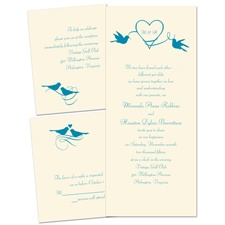 Love in the Air Ecru Separate and Send Wedding Invitation
