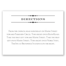 Typography on White - Direction Card