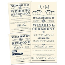 Presenting Ecru Separate and Send Wedding Invitation