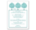 Tree Love - Menu Card