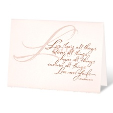 Just Believe Wedding Invitation
