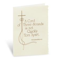 A Cord of Three Strands Wedding Invitation