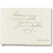 A New Life Together Wedding Invitation