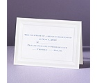 Pearlized Borders - Response Card and Envelope